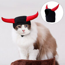 Cat Halloween Costume Cats Bull Horn Headgear Hat Decor For Halloween Christmas