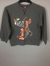 "Children's OH BABY LONDON gris ""LOVE MAMAN"" Pull. 8Y"