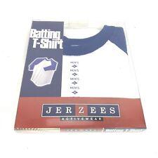 JERZEES Mens Raglan Shirt Ringer Tee Baseball Thin 50/50 Hipster Vintage XL