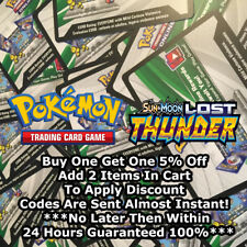 50x Sun And Moon Lost Thunder Pokemon TCGO PTCGO TCG Online Codes Sent Fast!!