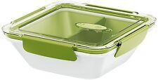 EMSA Bento Boîte de déjeûner Ravitailleur micro-ondes Pot carré 0,9L avec éclair