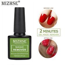 MIZHSE UV Nail Gel Magic Remover Soak Off Base Top Coat Nail Art Primer Lacquer