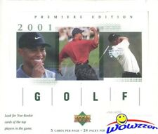 2001 Upper Deck Golf HUGE Factory Sealed Box-TIGER WOODS ROOKIES!