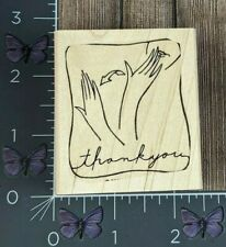 Stampin' Up! Thank You Sign Language Rubber Stamp ASL Wood Mount #AA97