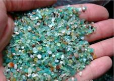 Natural Green Agate Crushed Stone Buddhist Broken Gravel Fishbowl Accessory 100g