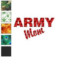 Army Mom Decal Sticker Choose Pattern + Size #1212