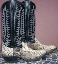 Cowtown Boots, Python Belly Cut Snake Skin Boots w/ Matching Belt, Size (10 D)