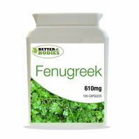 Fenugreek 610mg Seed Extract Health Supplement 100 Capsules Bottle