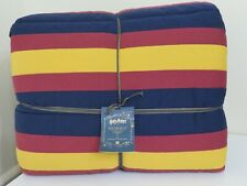POTTERY BARN TEEN HARRY POTTER HOGWARTS STRIPED KING SIZE QUILT NEW