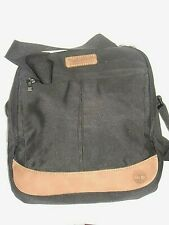 4821076e60 Timberland Classic Canvas Shoulder Bag in Black with Tan Leather Trim