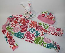 Vera Bradley Layette Baby Infant Lola Sleeper Outfit Hat Rattle Gift Set 6-9 mos