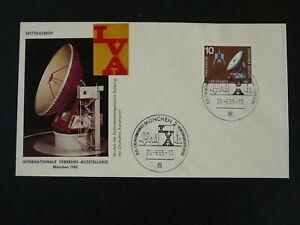 telecom satellite Internationale Verkehrsausstellung 1965 FDC Germany 83317