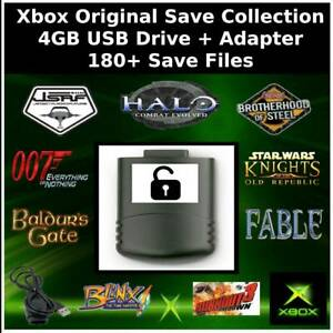 Unlocked Xbox Original USB Drive | 180+ Save Files | USB Adapter Included!