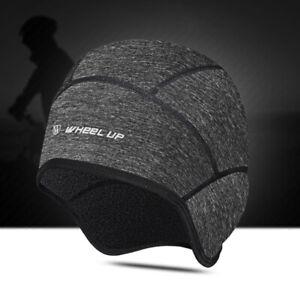 Winter Fleece Thermal Ear Warm Cycling Beanie Bike Black Cap Sports Hat One Size