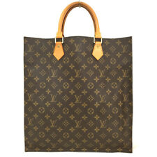 100% Authentic Louis Vuitton Monogram Sac Plat Tote Hand Bag /o747