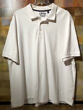 """Izod """"Heritage Polo"""" Ss White Cotton Mesh Polo Shirt Sz 3Xl Mint Cond. msrp$59"""