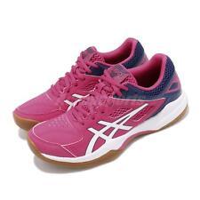 Asics Gel-Court Hunter Fuchsia Purple White Womens Badminton Shoes 1072A015-500