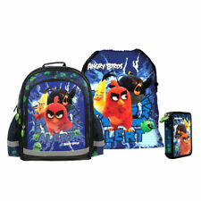 Angry Birds MOVIE School Bag Backpack with FILLED Double Pencil Case Shoe Bag