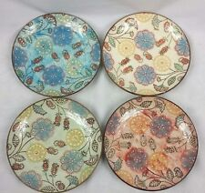 Set of 4 Couleur Nature Floral 8-inch Round Ceramic Plates