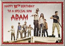 The walking dead personalised A5 birthday card brother sister niece nephew name