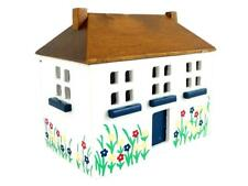 More details for dolls house painted 'dollhouse' toy box chest trunk miniature nursery furniture