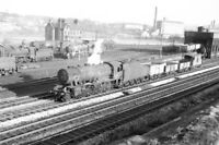PHOTO BR British Railways Steam Locomotive Class WD/8 90281 at Mirfield in 1965