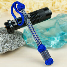 Cool Paracord Knife Lanyard Keychain with Oxidized Titanium Bead EDC Accessories
