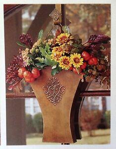 Southern Living FLOWER MARKET Wall Door Bucket #40664