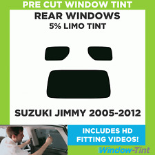 Pre Cut Window Tint - Suzuki Jimny 2005-2012 - 5% Limo Rear
