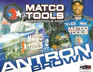 """2010 Antron Brown Matco Tools """"2nd issued"""" Top Fuel NHRA postcard"""