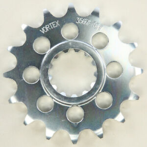 Front Steel Sprocket (525 / 16T) (Silver) Compatible with 15-18 Yamaha YZF-R1