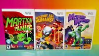 Martian Panic, Monster Mayhem, Destroy All Humans  - Nintendo Wii 3 Game Lot
