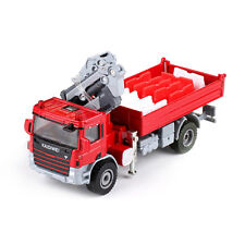 Diecast Atego with Crane 1:50 Scale Heavy Construction Vehicle Model Red