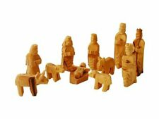 Medium Olive Wood Nativity Set 12 pcs with 3-D Animals