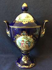 Pot à couvercle porcelaine émaillée peinte dorée dominie's collections H 33cm