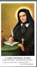 4 S. Maria Crocifissa di Rosa   Santino Holycard ..