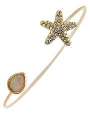 Rose gold starfish opalite stone cuff bracelet