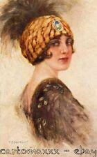 """Corbella - Art Deco - """"Donnina"""", Glamour Lady - Moda, Fashion - Viaggiata - C295"""