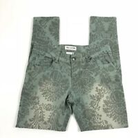 4db55d67bafc Free Culture Juniors Skinny Colored Pants Floral Print Jeans Green Size 11