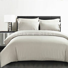 Luxe Silver 100% Bamboo Quilt Cover Set 400TC QUEEN SIZE Bedding For Your Health