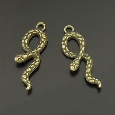 antique bronze animal snake charms pendants 20pcs 06048