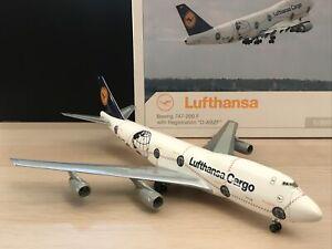 "Herpa 1:200 Lufthansa Cargo B747-200F ""World Clock"" Livery D-ABZF"