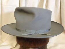 Vintage Royal Stetson Stratoliner Gray Fur Felt Fedora Wide Brim Mens Hat Size 7