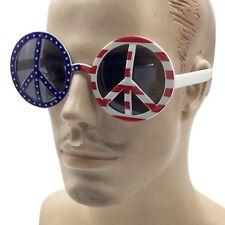 Usa Peace Party Glasses American flag hippie Sunglasses mens womens eyewear new