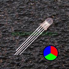 20pcs RGB LED Diffused Lens 5mm Common Cathode 4-Pin Red Green Blue USA 20x V28