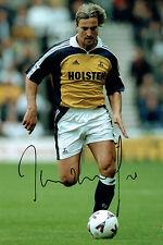 David GINOLA SIGNED COA Autograph 12x8 Photo AFTAL Tottenham Hotspurs & France