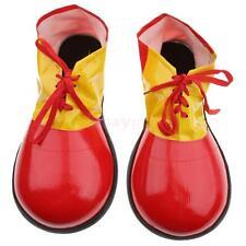 FANCY DRESS #US RED PLASTIC CHILDS CLOWN SHOES