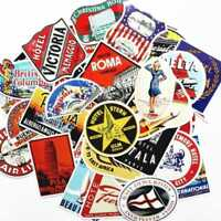 55Pcs Exquisite Vintage Old Fashioned Luggage Suitcase Travel Stickers