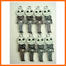 8 pcs Nightmare Before Christmas Jewelry Making Metal Figure Charms Pendant SET