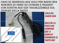 KIT SGANCIO E CAVO AUX CITROEN C2 C3 C4 PEUGEOT 307 207 308 MP3 iPhone GALAXY